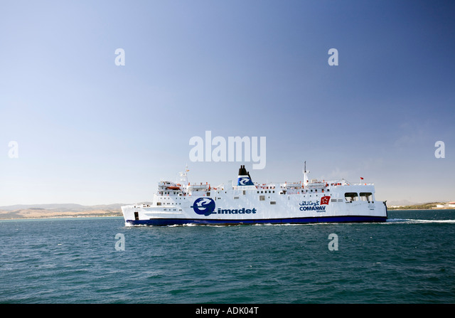 Ferry strait gibraltar stock photos ferry strait - Moroccan port on the strait of gibraltar ...