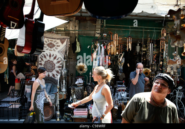 the flea market in Jaffa, Tel Aviv, Israel. - Stock Image