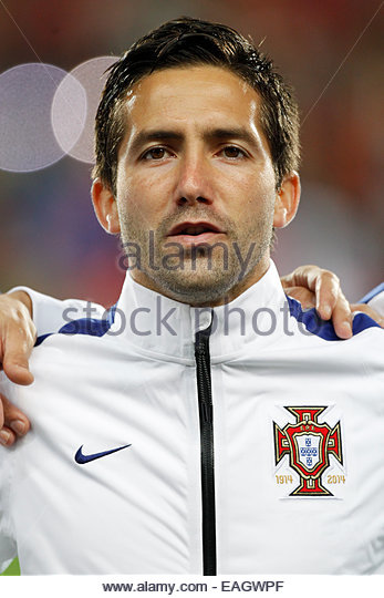 Algarve, Portugal. 14th November, 2014. PORTUGAL, Faro: Portugal's midfielder João Moutinho before the - Stock Image