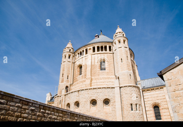 Israel, Jerusalem, Hagia Maria Sion Abbey (Dormition Abbey) - Stock Image