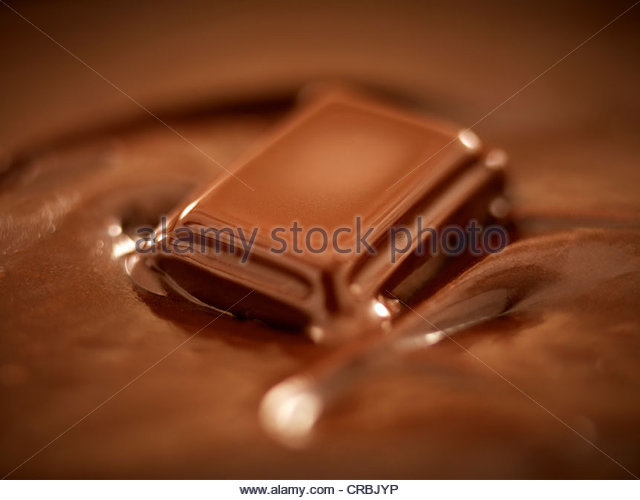 Melting chocolate - Stock Image