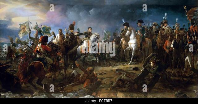 Napoleon at the Battle of Austerlitz, by François Gérard 1805. - Stock Image