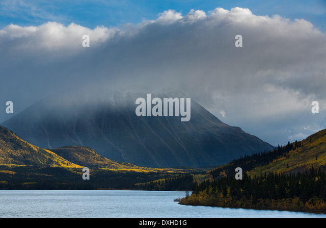 Tushti Lake & Young Peak, British Columbia, Canada - Stock Image