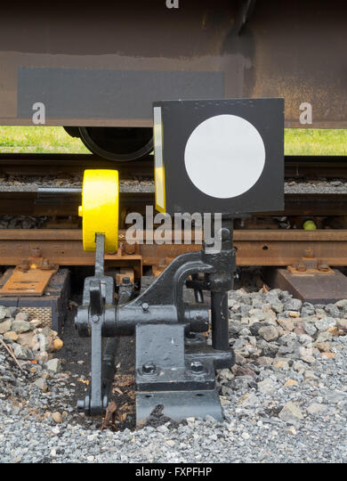 Lever Train Track : Railroad track switch stock photos