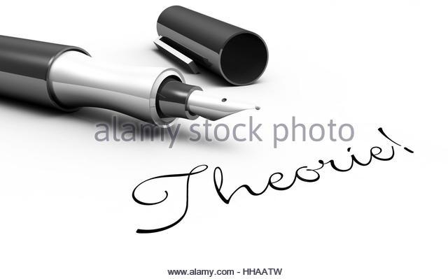Theorie! - Stift Konzept - Stock-Bilder