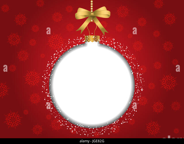 Christmas bauble background with blank space for text - Stock Image