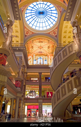 Inside the Forum Shops area at Caesars Palace Mall Las Vegas Nevada Caesars Palace Hotel and Casino - Stock Image