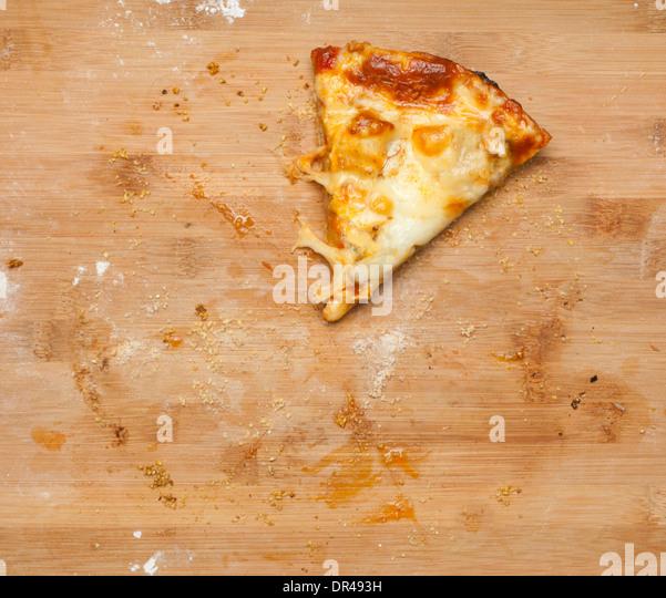 Last slice of cheese pizza - Stock Image