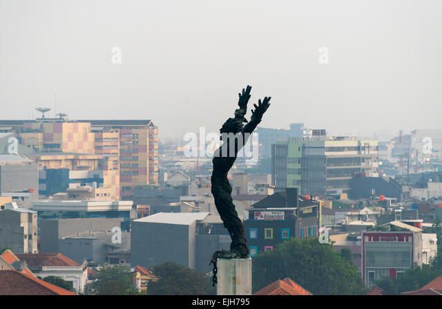 Irian Barat statue, statue erected to celebrate the inclusion of West Papua into Indonesia, Jakarta, Indonesia - Stock Image
