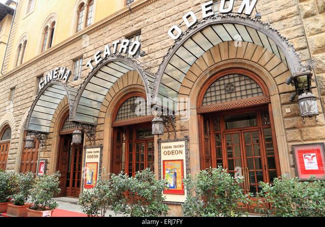 Cinema Teatro Odeon, Palazzo Strozzino, Florence - Stock Image