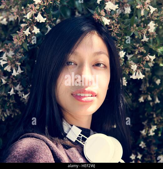 Girl Beautiful Female Woman Hipster Concept - Stock Image