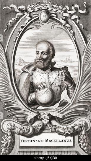 Ferdinand Magellan, circa 1480 to 1521.  Portuguese maritime explorer. - Stock Image