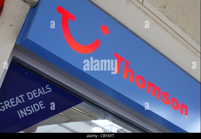 Thomson travel sign - Stock-Bilder
