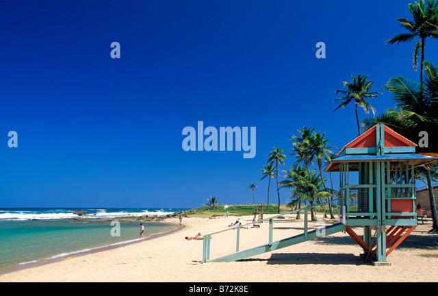 Luquillo Beach Puerto Rico Caribbean - Stock Image