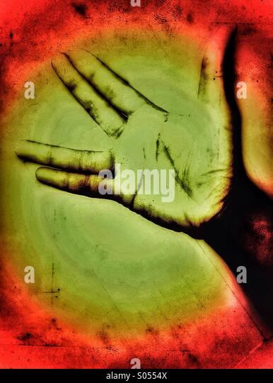 Black hand - Stock Image
