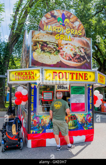 Poutine Food Truck, Commercial Drive, Vancouver, British Columbia, Canada - Stock Image