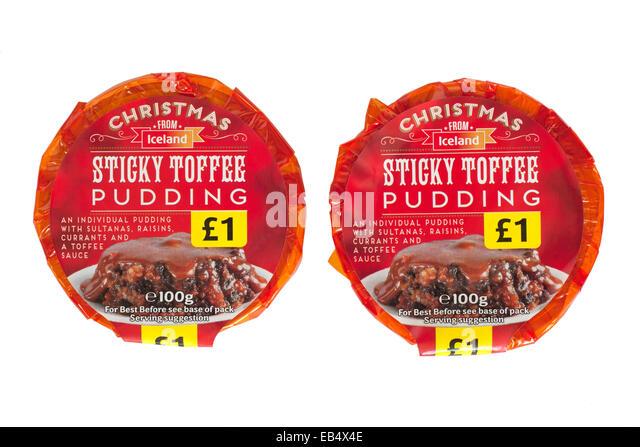 seasonal alternative desserts to the traditional christmas pudding - Stock Image