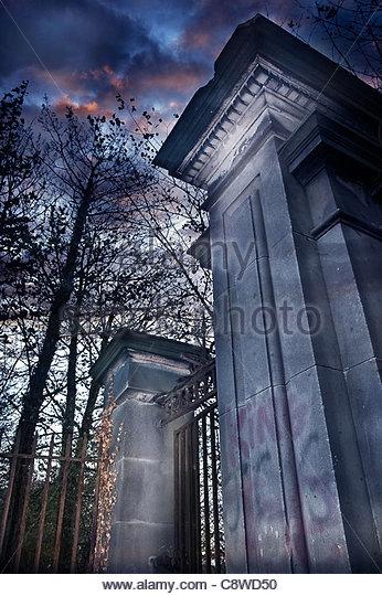 Churchyard gates - Stock Image