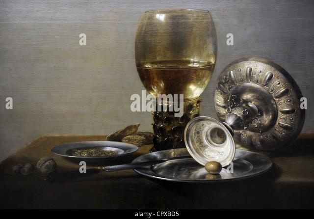 Pieter Claesz (c. 1597-1660). Still life, c. 1635. - Stock Image