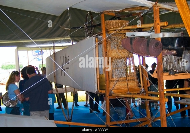 14 Bis Flying Replica Pilot Basket - Stock Image