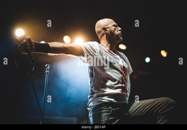 September 9, 2015: The Italian rock band Negrita performing live on stage at the Ritmika festival 2015 in Moncalieri - Stock Image