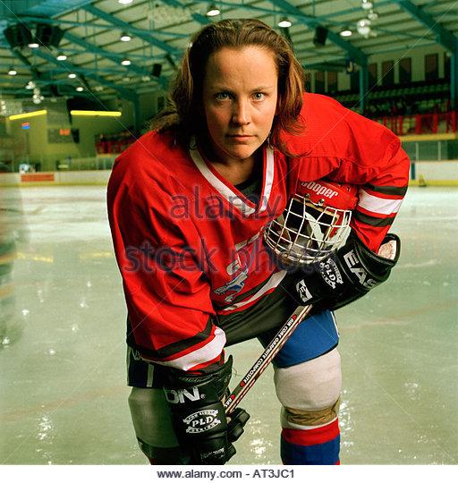 FIONA KING, captain of Great Britain's ice hockey team - Stock Image