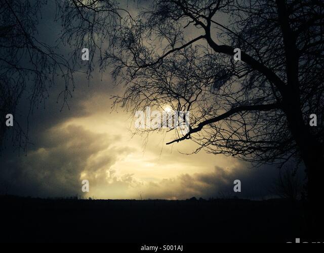 Moody sky - Stock Image