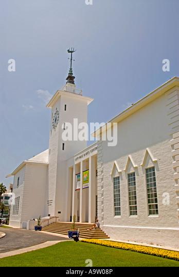 Bermuda Hamilton City Hall Arts Centre - Stock Image