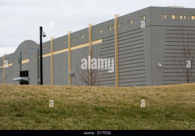 A data center complex where Amazon.com is known to lease space in Ashburn, Virginia.  - Stock Image