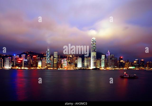 Hong Kong Skyline from Kowloon China - Stock Image