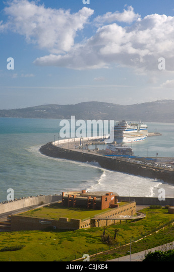 Tangier port stock photos tangier port stock images alamy - Moroccan port on the strait of gibraltar ...