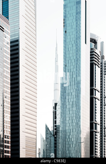 Impressions of Sheikh Zayed Road, Al Satwa, Dubai, United Arab Emirates, Middle East - Stock Image