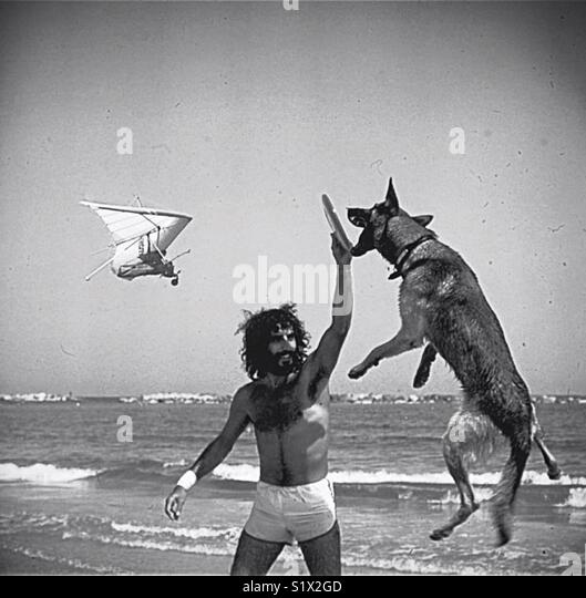 Man and his dog - Stock Image