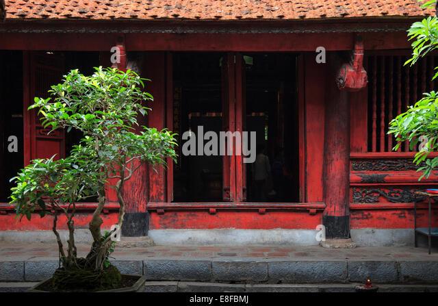 Vietnam, Hanoi, Temple of Literature - Stock Image