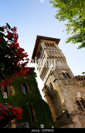 The 12th century Old Town Hall (now the museum) in St Antonin Noble Val, Tarn et Garonne, France - Stock Image