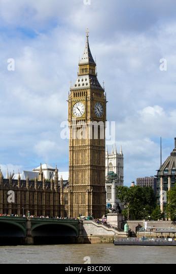 Big Ben Houses of Parliament London - Stock Image