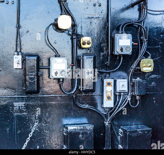 Battleship communication technology. - Stock Image