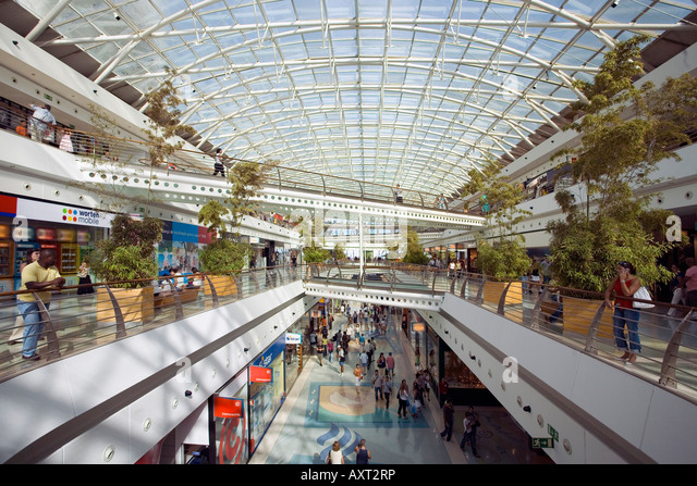 Portugal Lisbon Vasco da Gama shopping center interieur near Expo - Stock Image