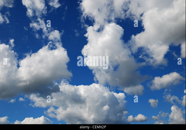 Clouds on the sky in summer. - Stock Image