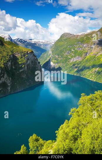 Geiranger Fjord, Norway - Stock Image