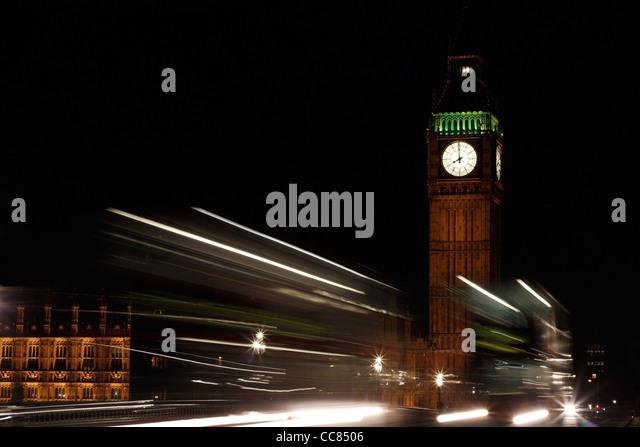 Big Ben at night - Stock Image