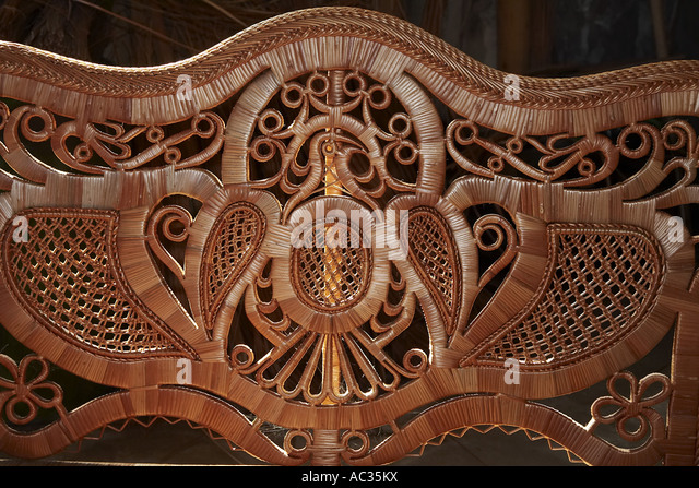basket maker art, Portugal, Madeira, Camacha - Stock Image