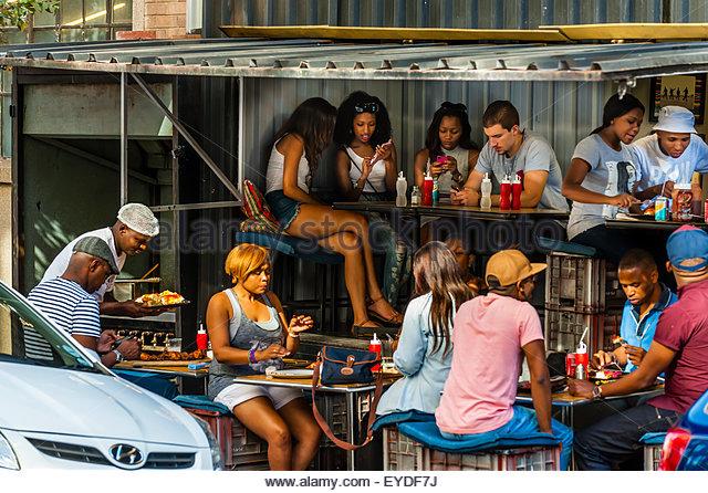 Street scene, Maboneng Precinct, Johannesburg, South Africa. - Stock Image
