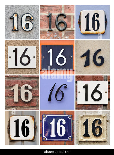 Number plate collage stock photos number plate collage for Number 16 house