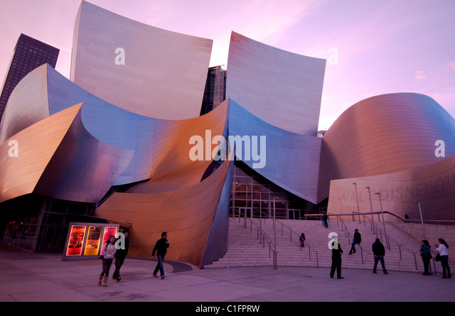 Architect Frank Gehry's Disney Concert Hall in downtown Los Angeles Southern California USA - Stock-Bilder