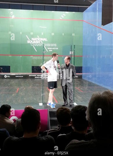 British National Squash Championships 2014, National Squash Center, Manchester - Stock Image