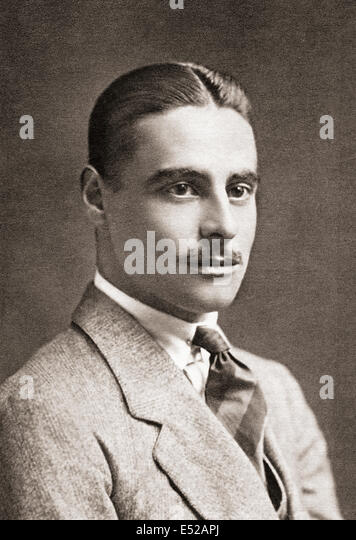 The Honourable Colwyn Erasmus Arnold Philips, 1888-1915. Captain in the Royal Horse Guards and poet of World War - Stock Image