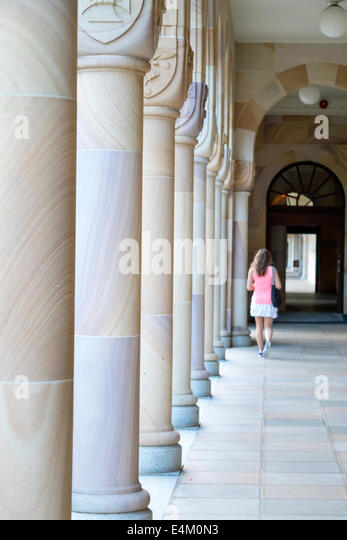 Brisbane Australia Queensland University of Queensland campus school education Forgan Smith Building School of Law - Stock Image