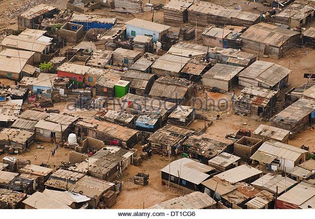 Accra Ghana Slum on outskirts of Accra Ghana - Stock Image