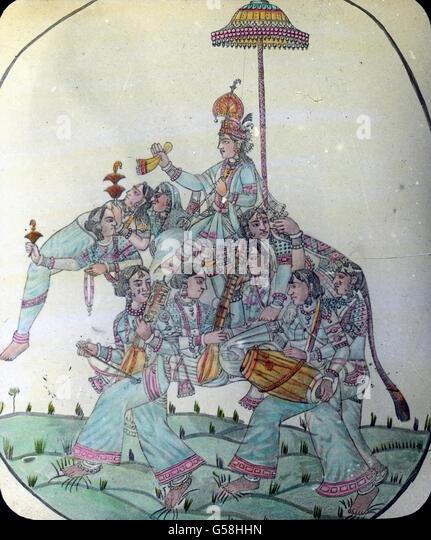 Hinduismus-Hauptfigur: Krishna  Indien, India, Asia, travel, Hinduismn, religion, belief, man, god, painting, Krishna, - Stock Image